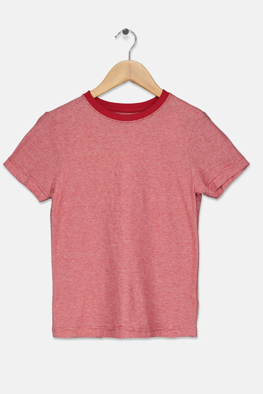 Kids Boys Micro-stripe Tee, Red