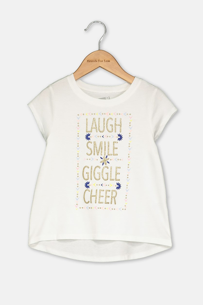 Toddler Girl's Graphic Tee, White