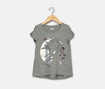 Crazy 8 Girl's Graphic Top, Gray
