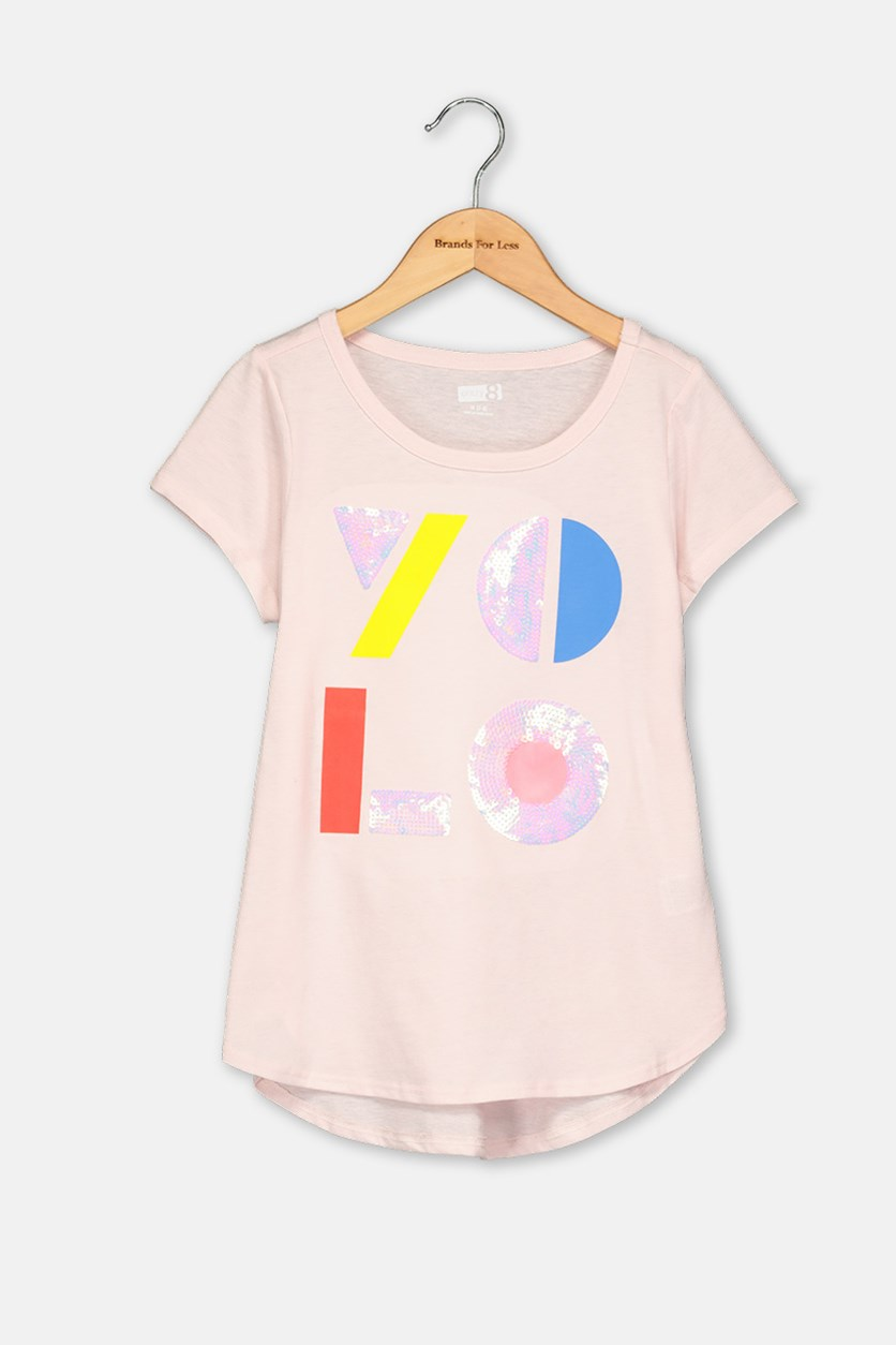 Kids Girls Textured Top, Light Pink
