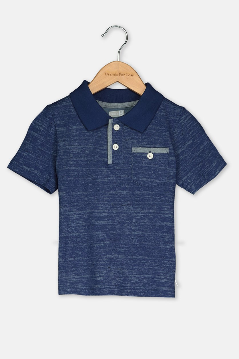 Toddler Boy's Polo Shirt, Navy Blue