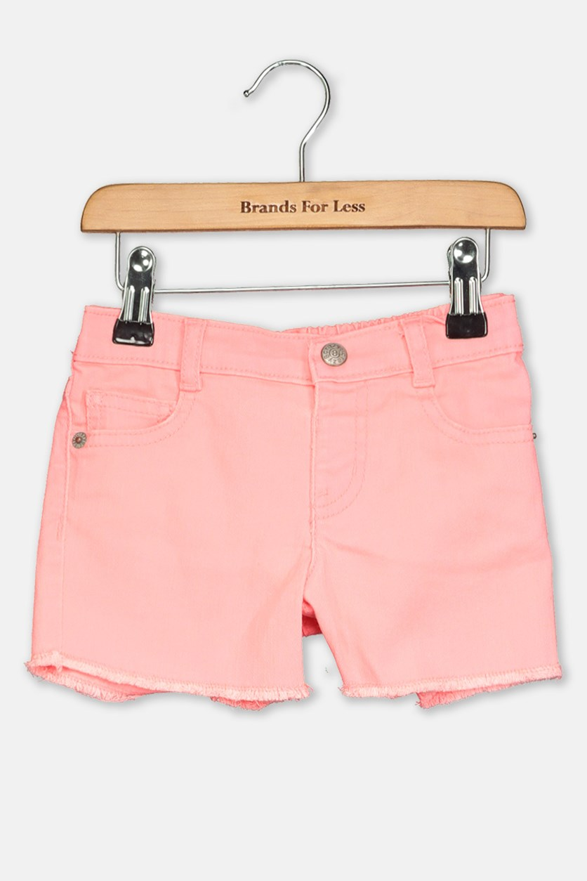 Toddler Girl's Denim Shorts, Pink