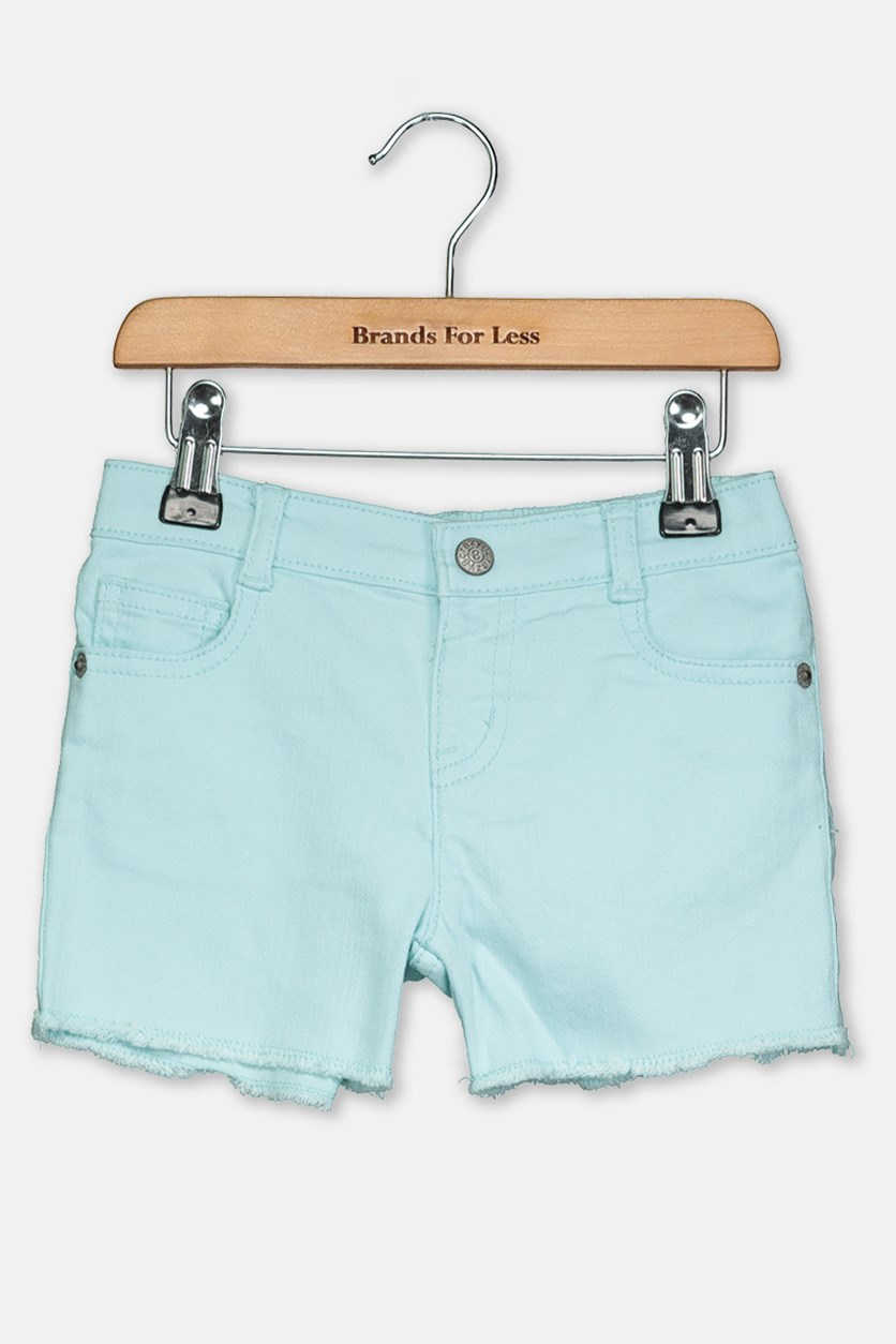 Toddler Girl's Denim Shorts, Turquoise