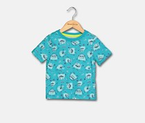 Crazy 8 Toddler Boy's Allover Print Tee, Turquoise