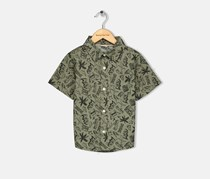 Crazy 8 Toddler Boys Graphic Woven Shirt, Olive