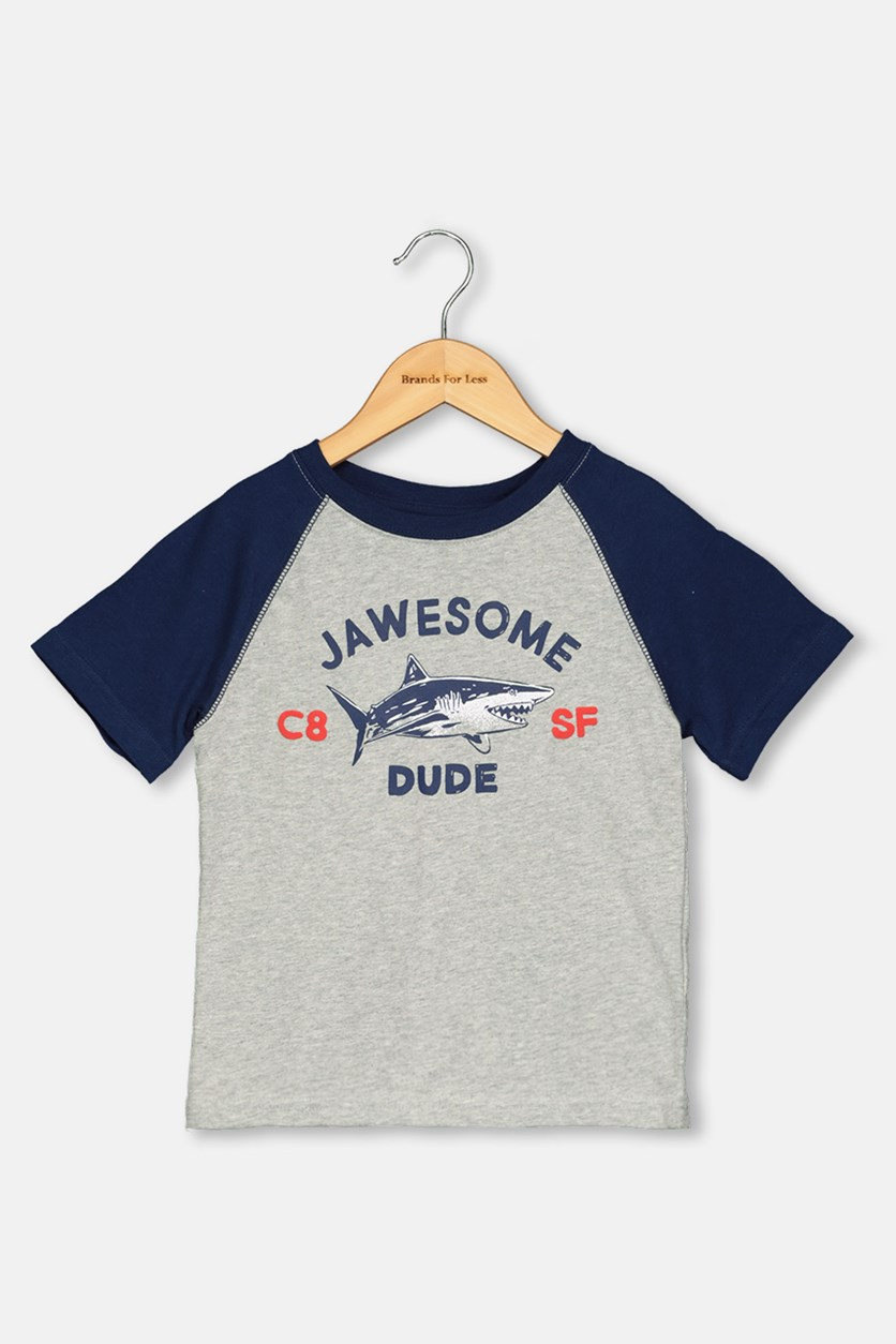 Toddlers Graphic Print, Grey/Navy