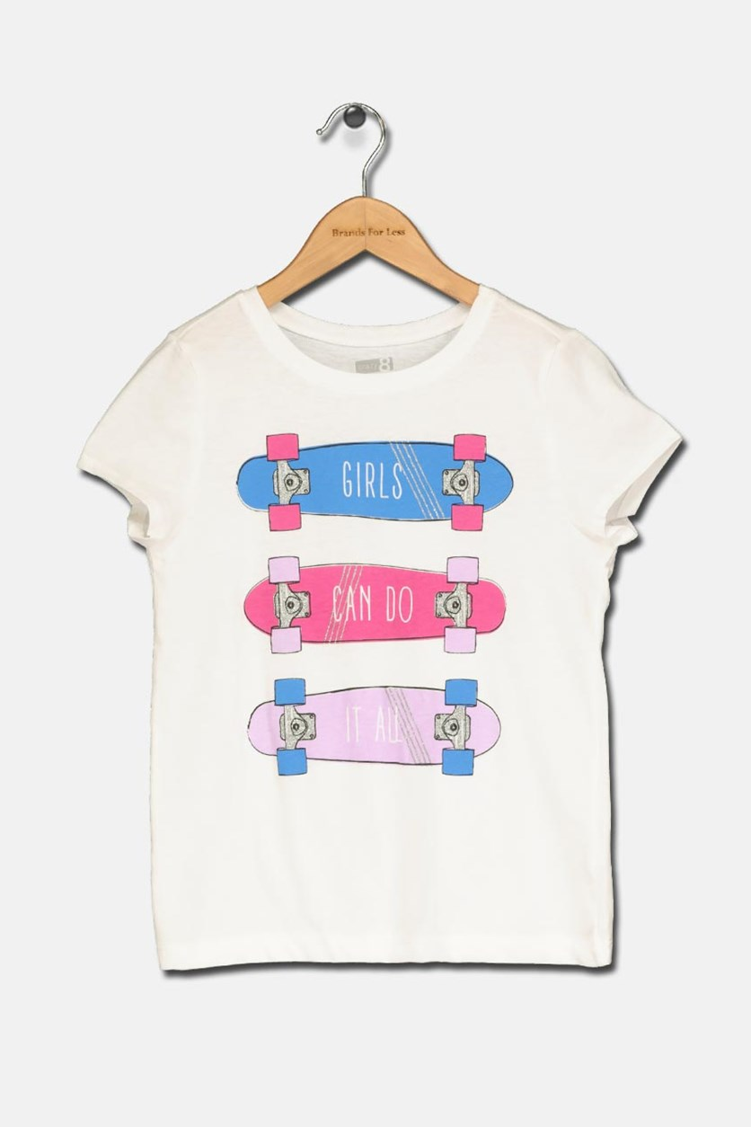 Girl's Graphic T-Shirt, White
