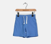 Crazy 8 Toddlers Boys Solid Cotton Shorts, Blue