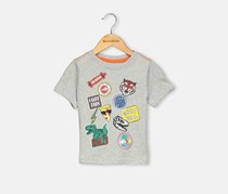 Crazy 8 Toddlers Grapic Top, Grey