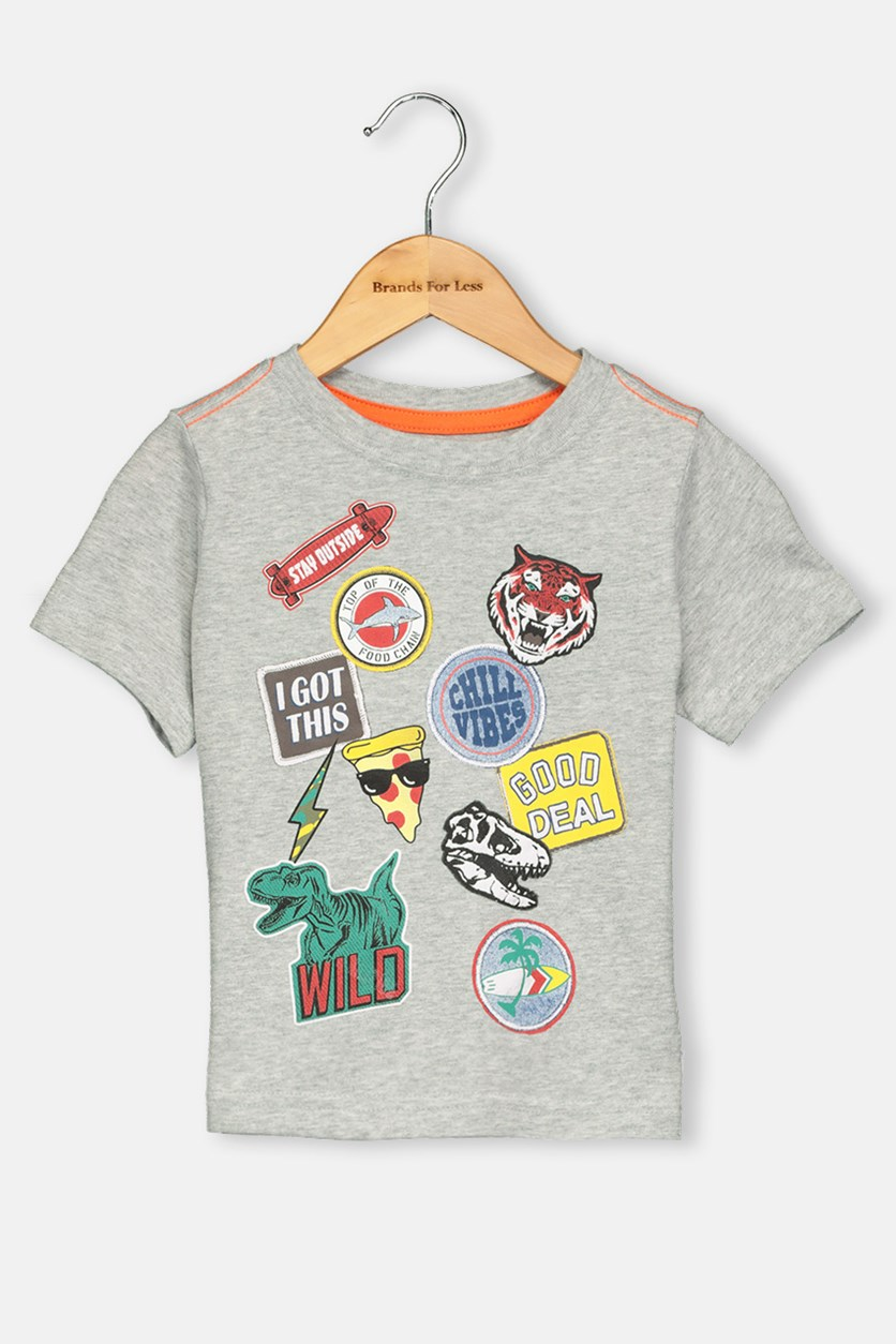 Toddlers Grapic Top, Grey