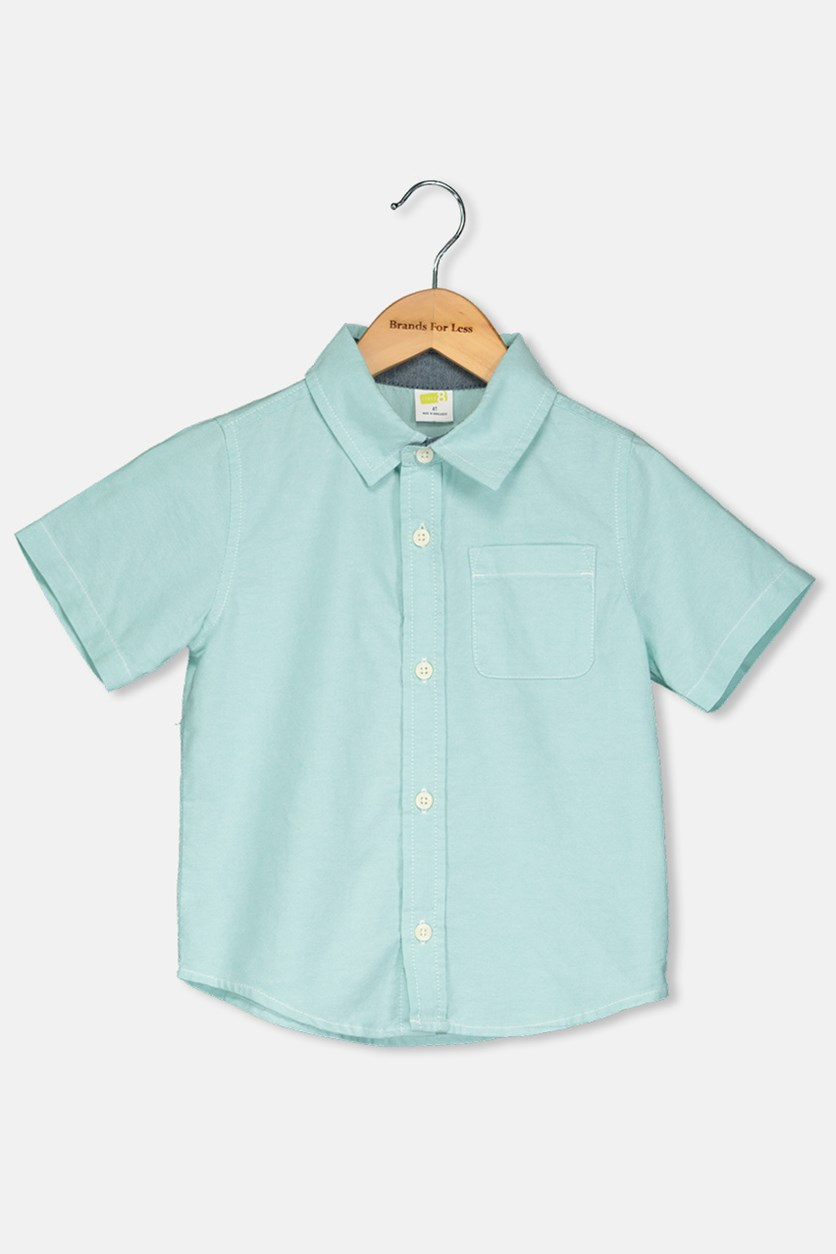Toddlers Boy Casual Short Sleeve, Turquoise