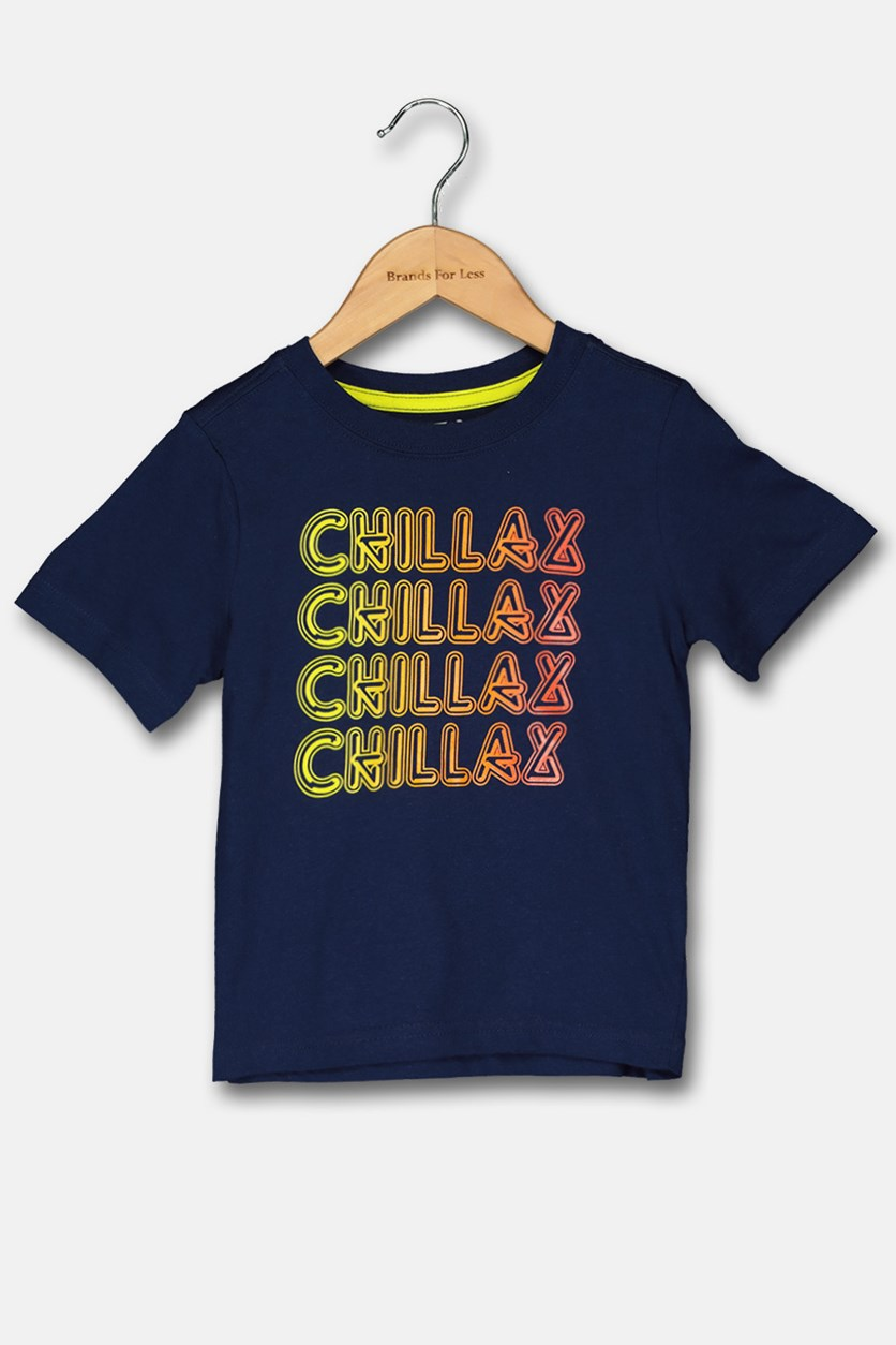 Toddler Boy's Graphic Tee, Navy Blue