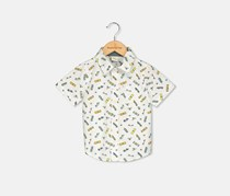 Crazy 8 Toddlers Allover Print Casual Shirt, White Combo