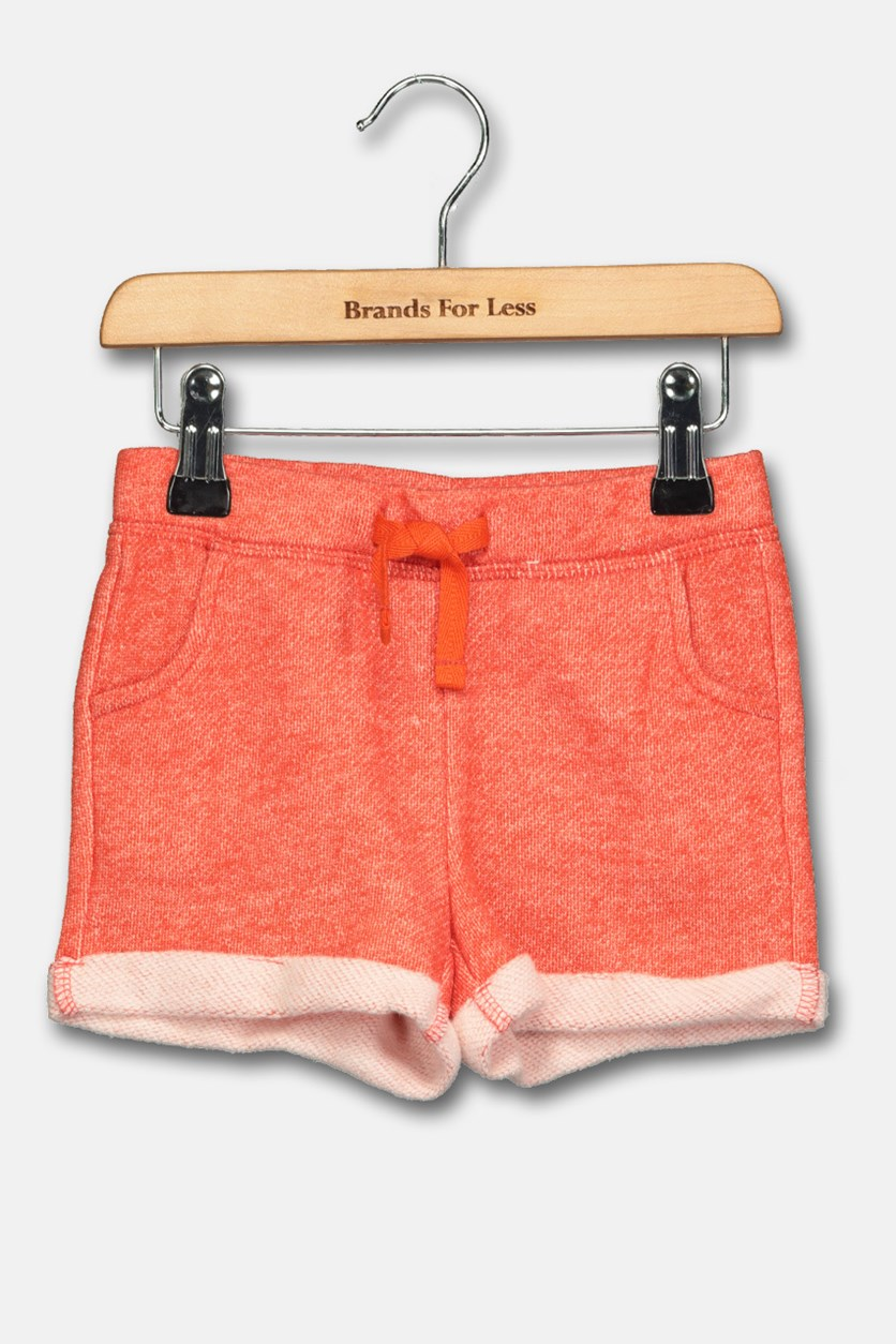 Toddler Girl's Casual Shorts, Orange