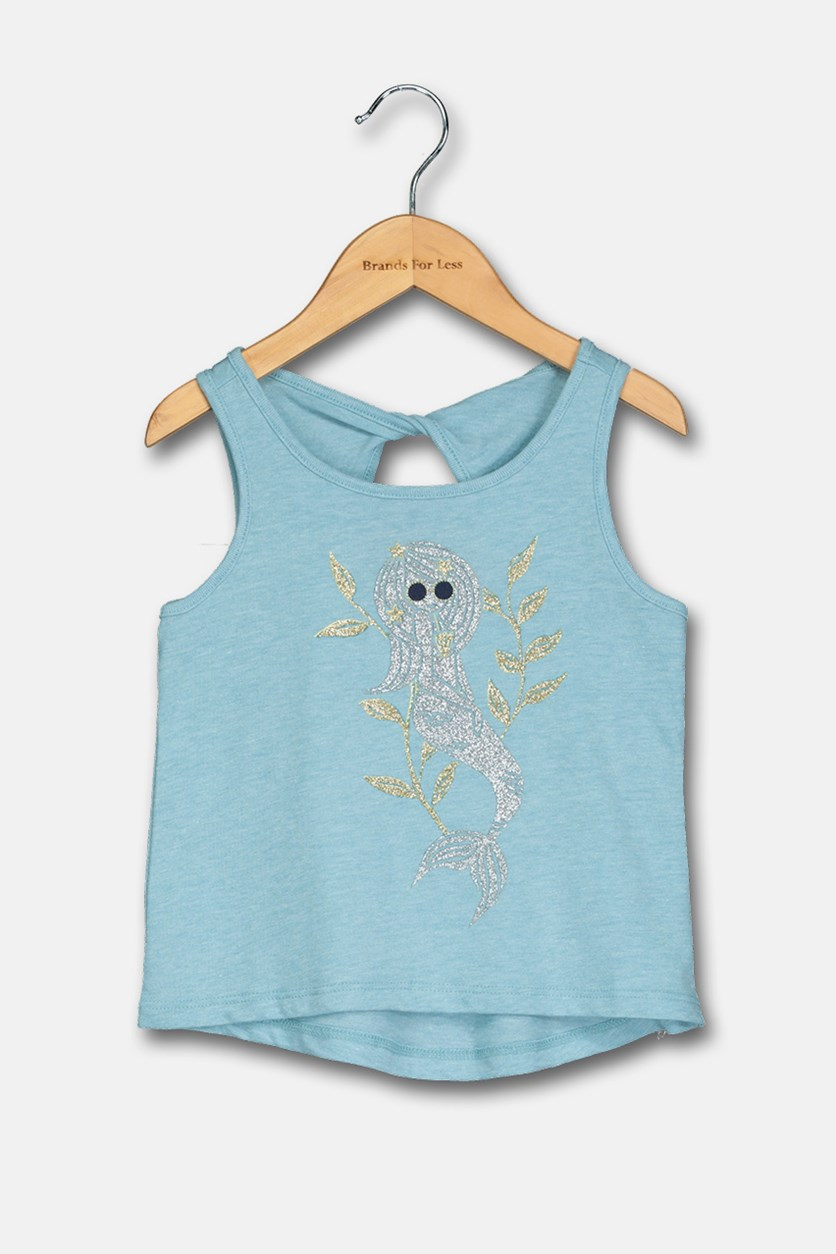 Toddler Girl's Sleeveless Top, Blue
