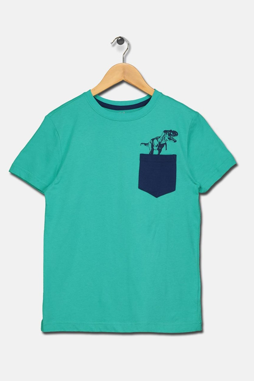 Boy's Chest Pocket Tee, Teal