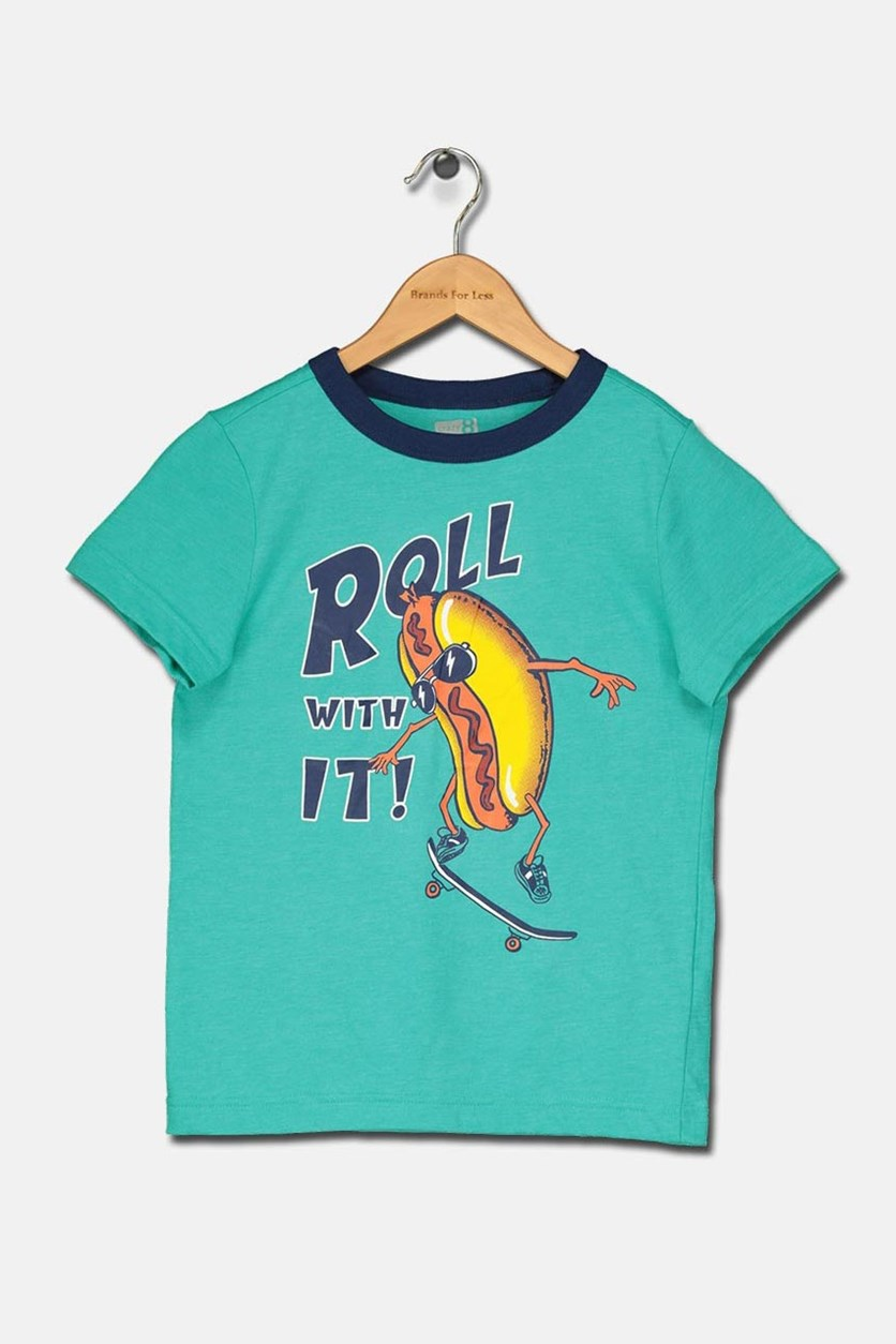 Boy's Roll With It Graphic T-Shirt, Blue/Green