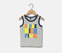 Crazy 8 Toddlers Boy Graphic Top, Grey/Lime/Blue
