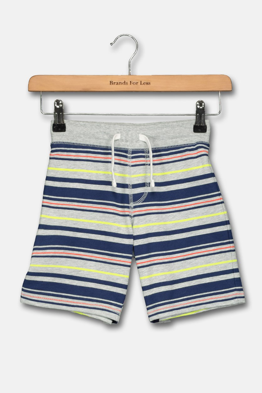 Toddlers Pull on Short, Grey/Navy