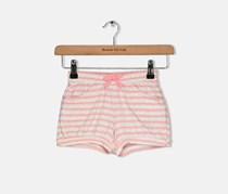 Toddler Girls Stripe Cotton Shorts, Pink