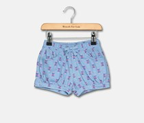 Toddler Girl's Allover Short, Blue