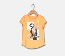 Crazy 8 Toddler Girl's Parrot Print Tee, Orange