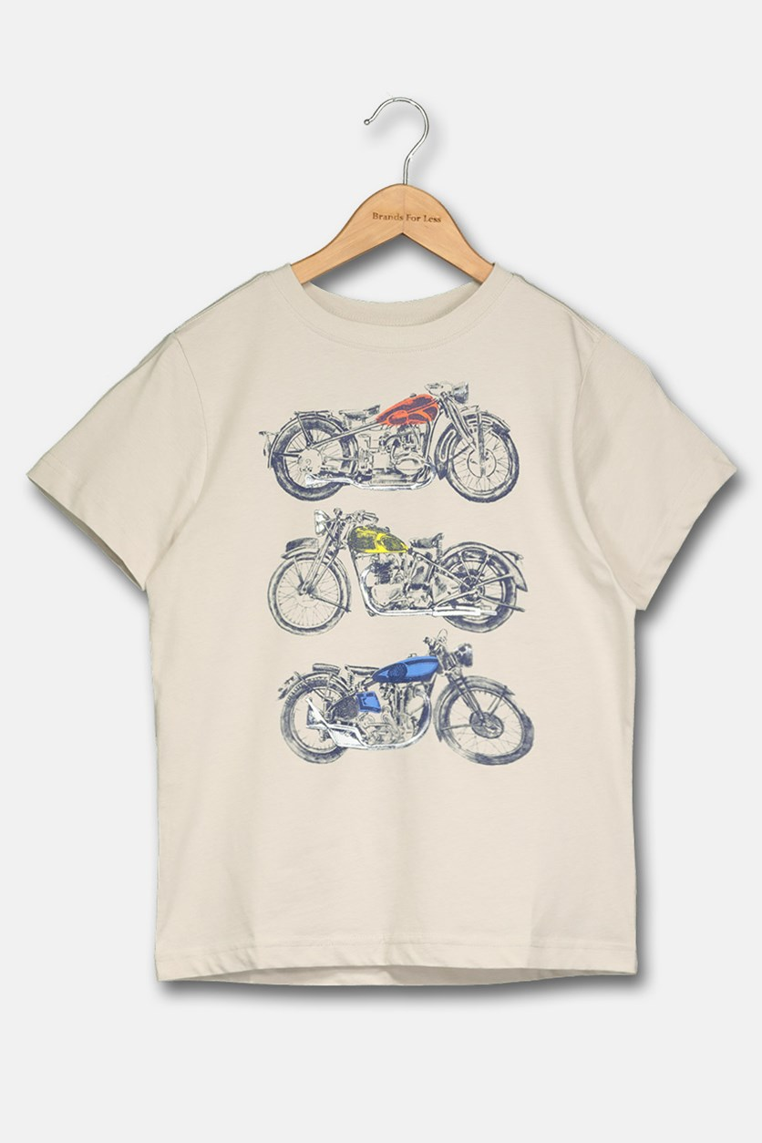 Boy's Graphic Shirt, Stone