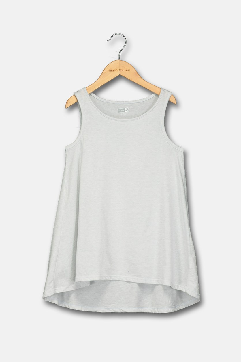 Kids Girls Tank Top, Grey