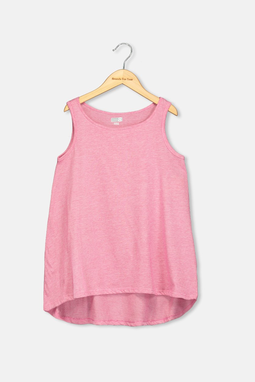 Kids Girls Tank Top, Fuschia