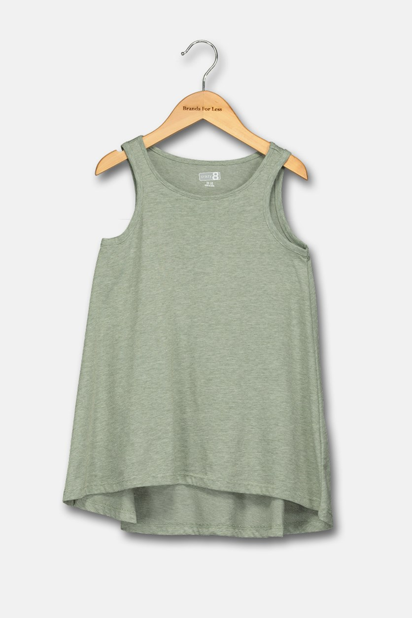 Girls Stripe Tank Top, Green
