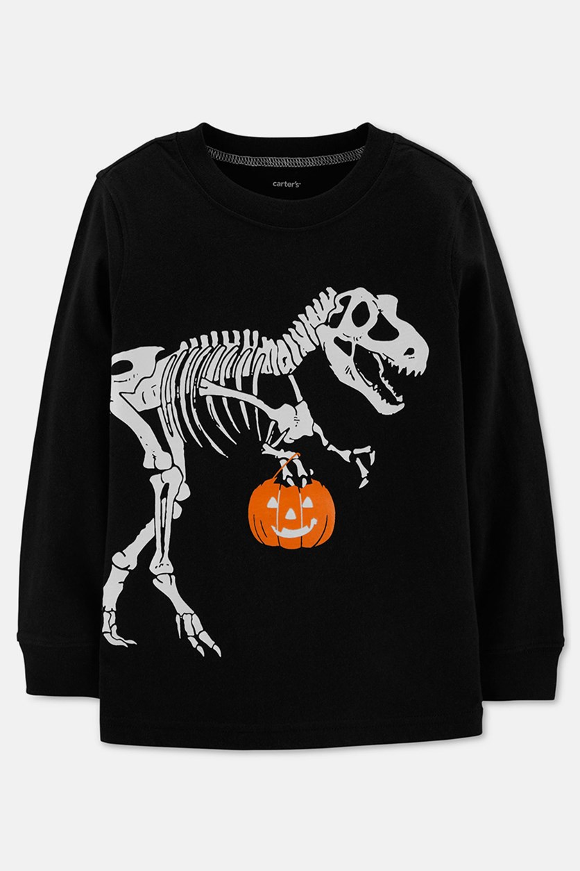 Toddler's Long Sleeve Tee, Black