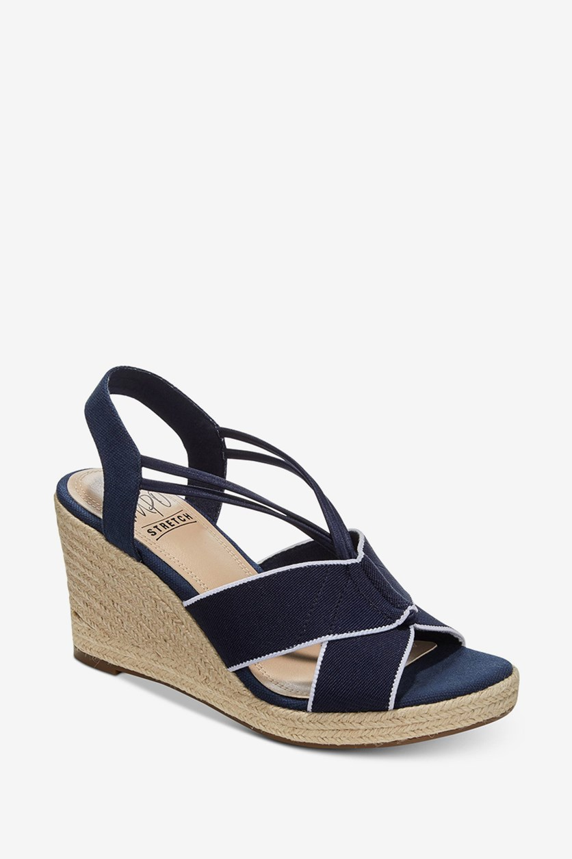 Women's Tegan Espadrille Wedge Sandals, Navy