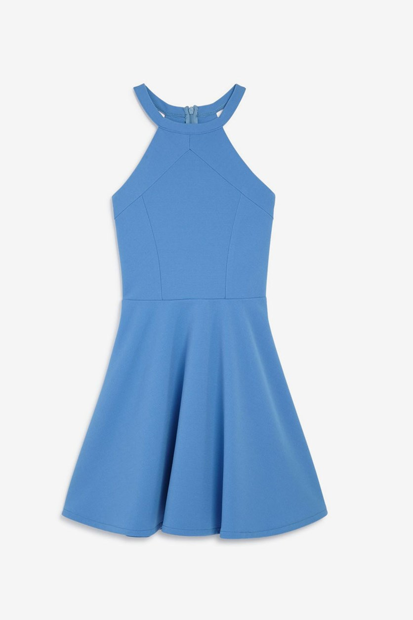 Girls' Textured Knit Dress, Blue