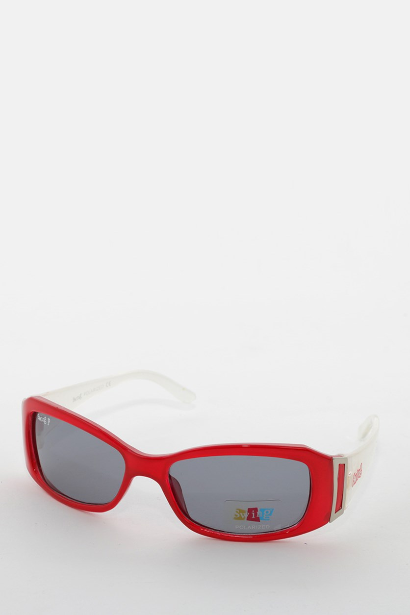 Kids SS14 Polarized Sunglasses, Red/White