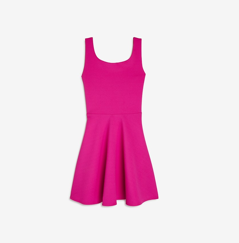 Girls Christina Textured Crisscross-Back Dress, Pink