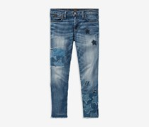 Polo Ralph Lauren Girls' Patchwork Star Jeans, Blue
