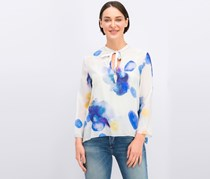 Cacharel Women's Floral Top, Off White Combo