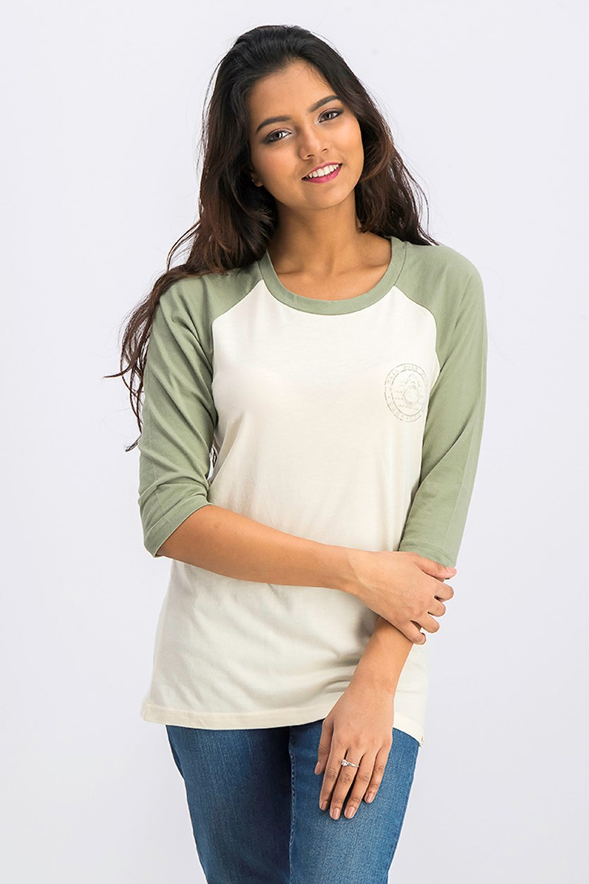 Women's 3/4 Sleeve Top, Ivory