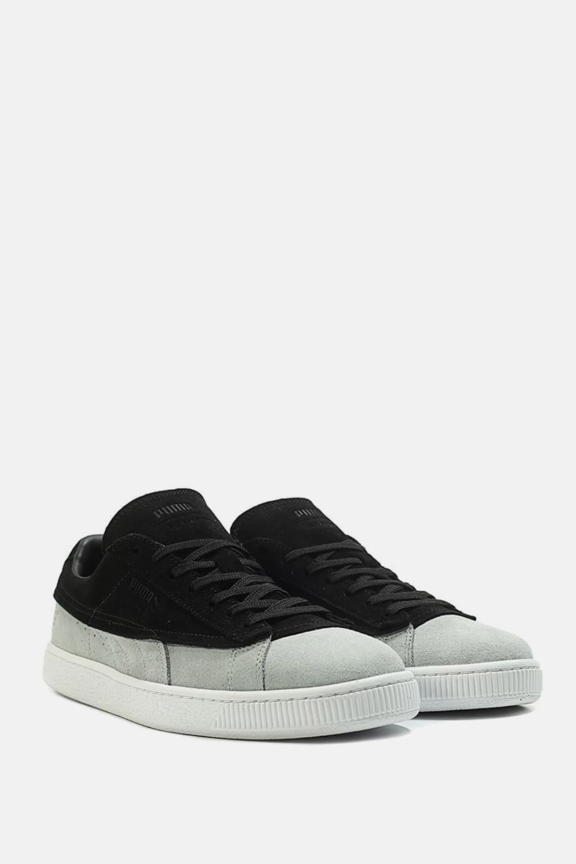 Men's Suede Classic X Stamp Shoes, Black/White
