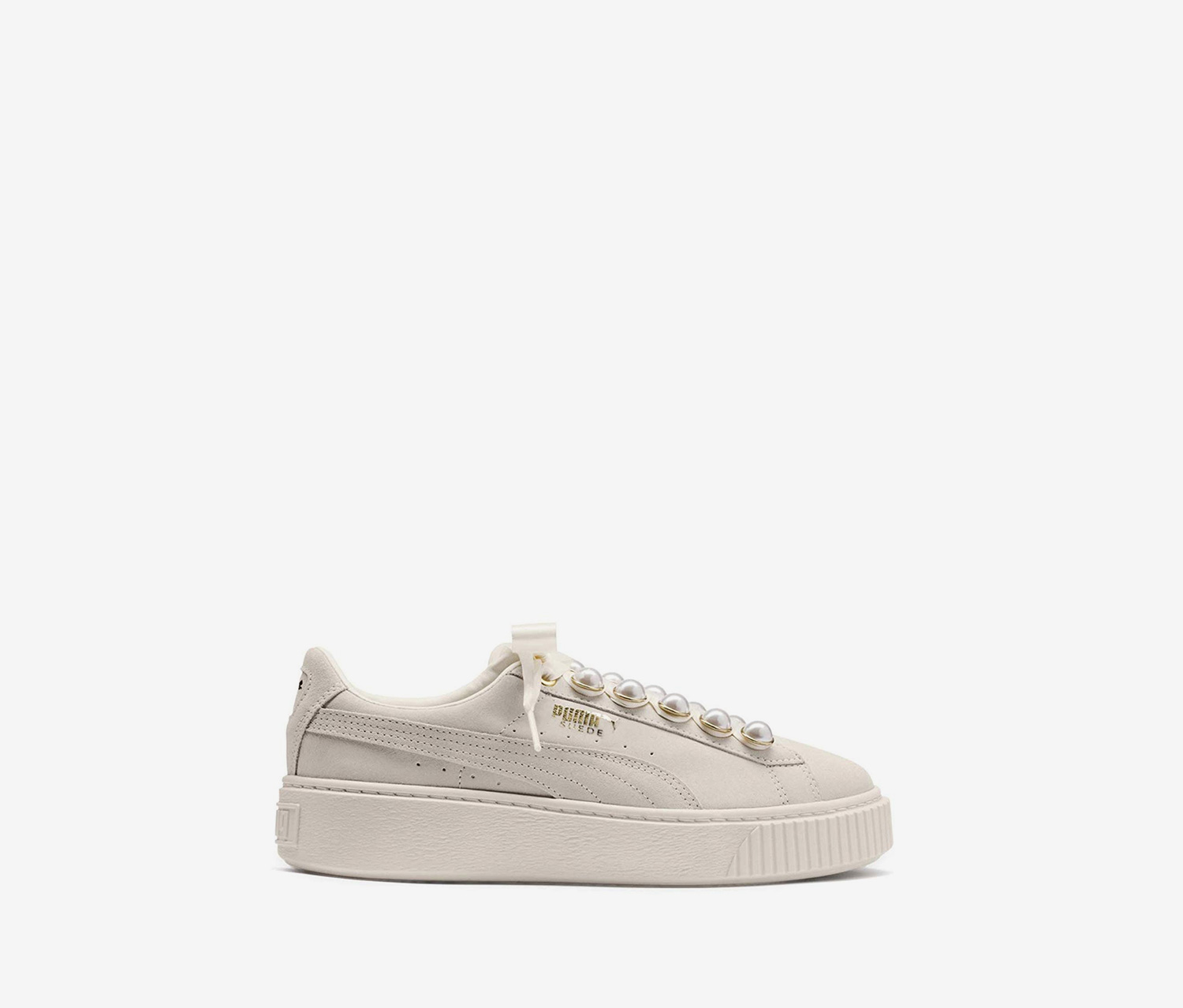 Shop Puma Women's Suede Platform Bling Sneakers, Natural