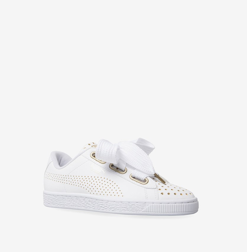 Women's Basket Heart  Ath Lux Sneakers, White