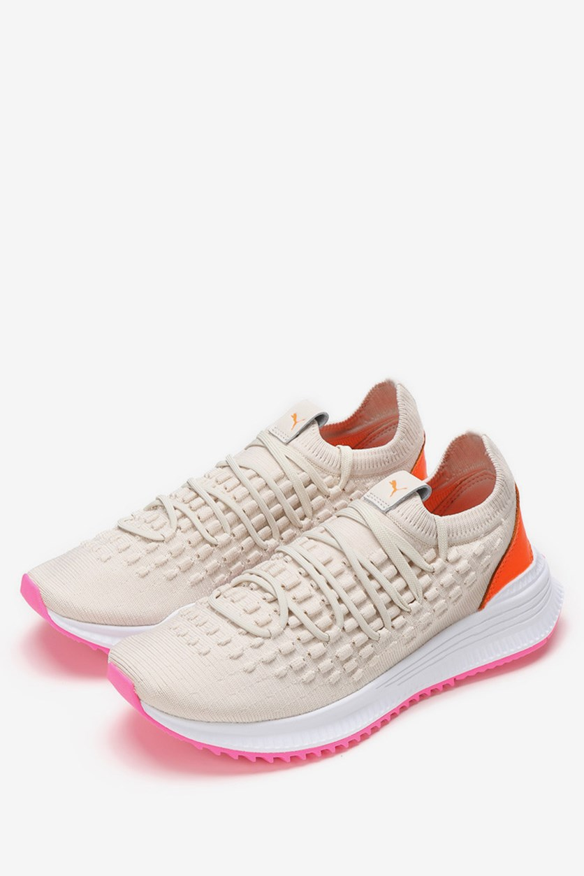 Unisex Avid Fusefit Shoes, Birch/Orange/White