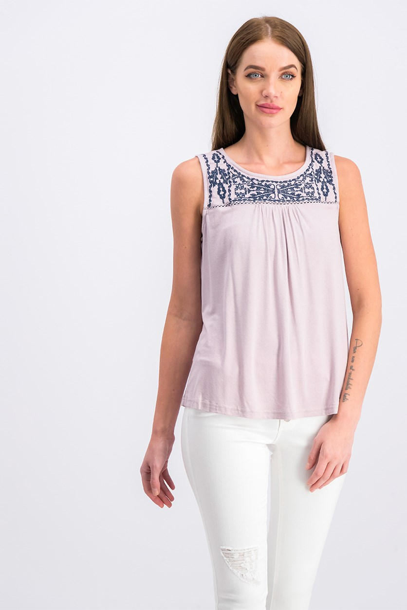 Women's Sleeveless Top, Mauve