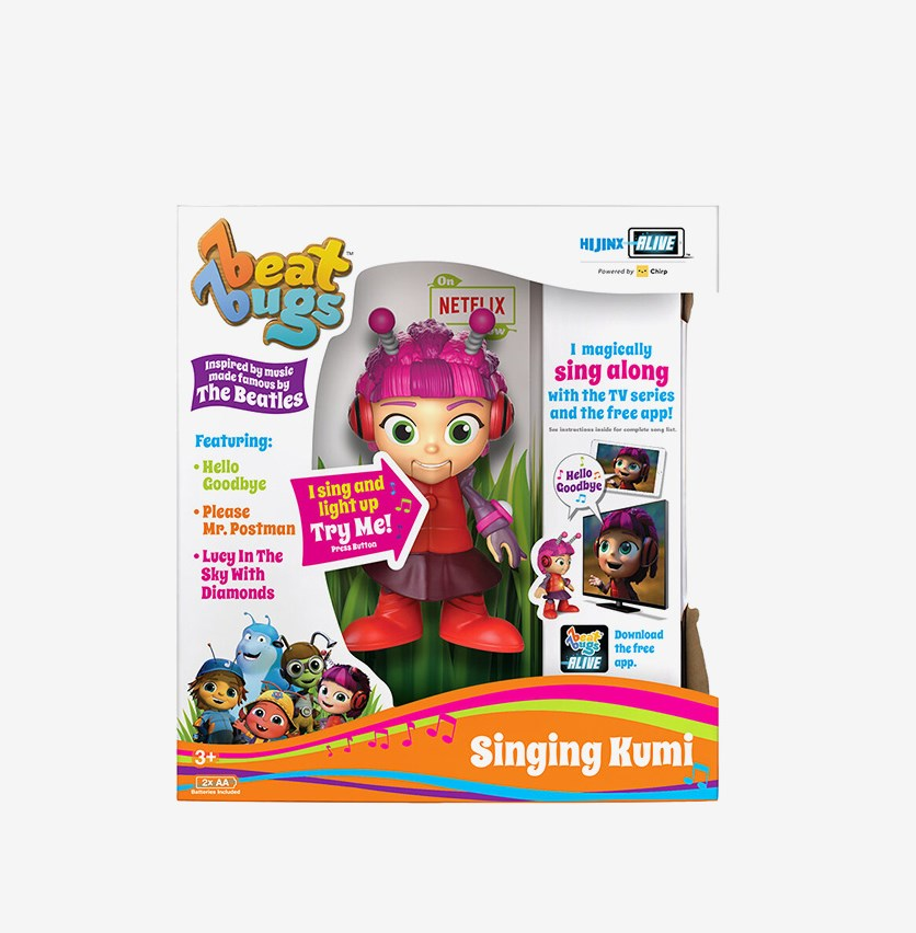Beat Bugs Singing Kumi Figure Toy, Pink Combo