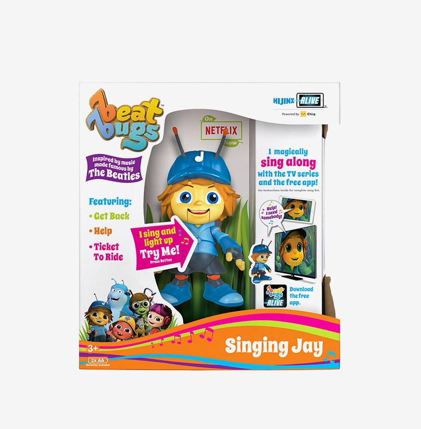 Beat Bugs Singing Jay Figure Toy, Blue Combo
