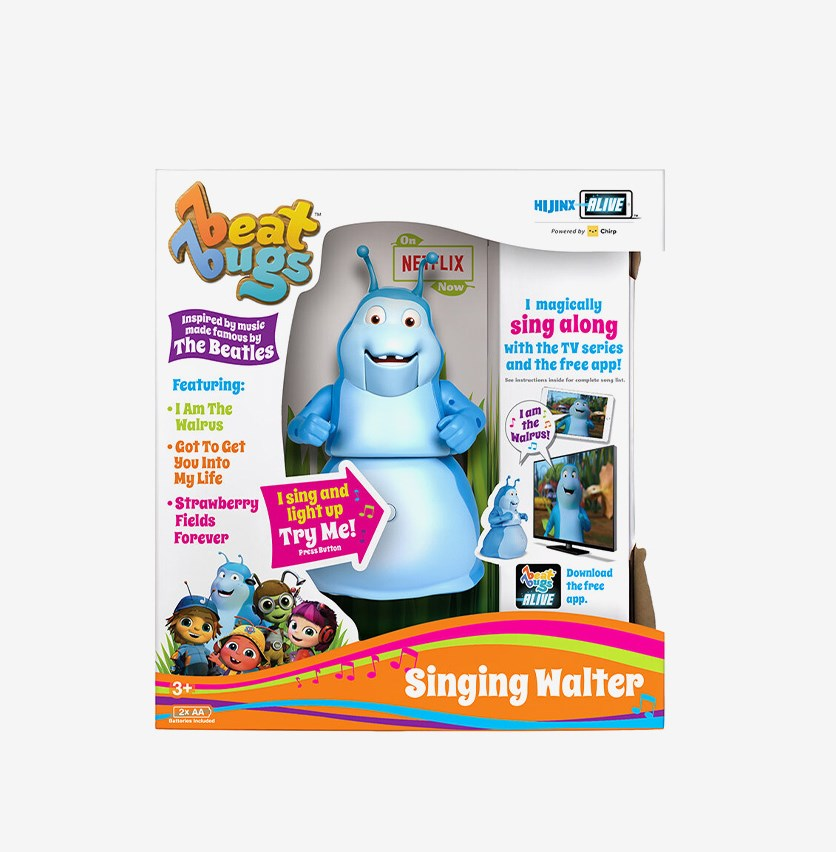 Beat Bugs Singing Walter Figure Toy, Blue Combo