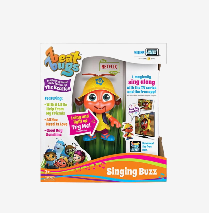 Beat Bugs Singing Buzz Figure Toy, Yellow Combo