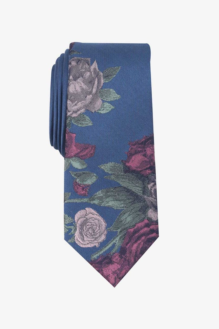 Men's Seychelle Floral Panel Tie, Blue