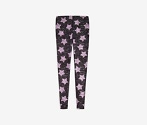 Terez Girls' Kids Heathered Pink Star Leggings, Grey