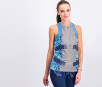 Adidas Stella McCartney Techfit Snakeskin Print Tank Top, Grey/Blue